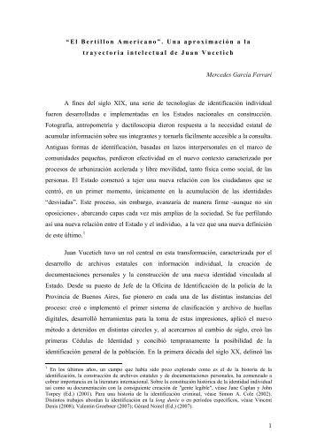 Mercedes García Ferrari - Saberes de Estado