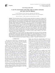 U and Th concentrations and isotope ratios in modern carbonates ...
