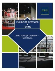 2010 Acreage Lifestyles / EXHIBITOR SERVICES & FORMS 2010 ...
