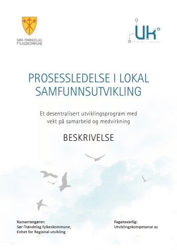prosessledelse i lokal samfunnsutvikling - Sør-Trøndelag ...