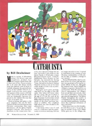 Catequista - Partners with El Salvador