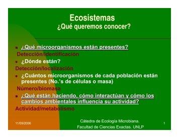 ecologia cualitativa - Departamento de Ciencias Biológicas