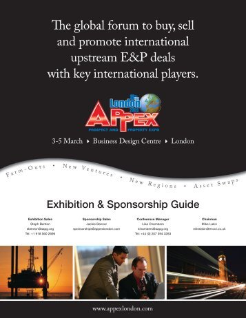e global forum to buy, sell and promote ... - APPEX London