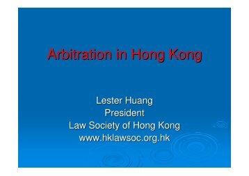Arbitration in Hong Kong