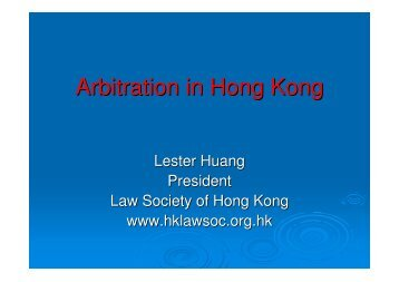 Arbitration in Hong Kong