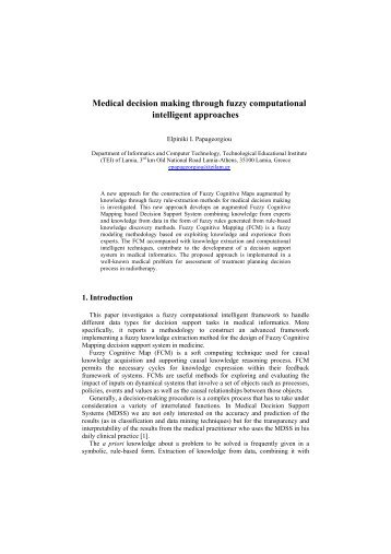 Medical decision making through fuzzy computational ... - Debugit