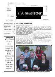 YFA newsletter - young farmers ambassadors of the united kingdom