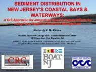 sediment distribution in new jersey's coastal bays ... - Stockton College