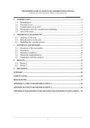 1.1 Hemodialysis 1.2 Vascular access 1.3 Complications of an AVF ...