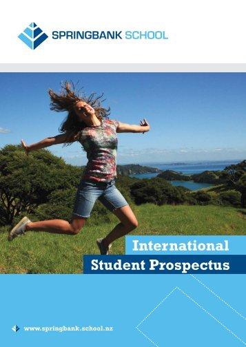 International Student Prospectus - Springbank School