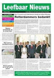 Rotterdammers bedankt! - Leefbaar Rotterdam