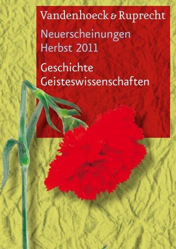 Neuerscheinungen Herbst 2011 Geschichte Geisteswissenschaften