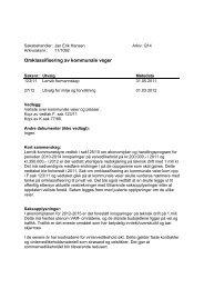 Kopi av saksutredning med oversikt over og ... - Lenvik kommune
