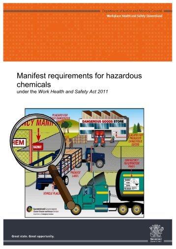Manifest requirements for hazardous chemicals under the Work ...