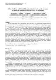 Comparison of in situ dry matter degradation parameters with in vitro ...