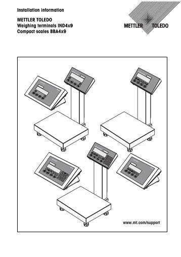Installation instructions I/O MiniMettler connector