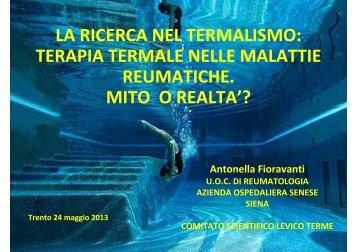 terapia termale nelle malattie reumatiche: mito o ... - Trentino Salute
