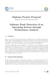 Diploma Project Proposal Software Fault Detection of an Operating ...