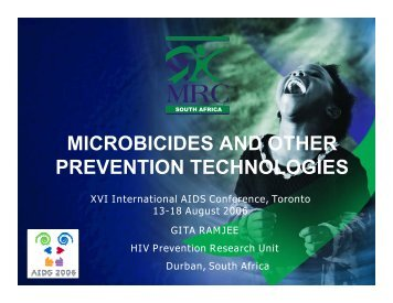 microbicides and other prevention technologies - Global Campaign ...