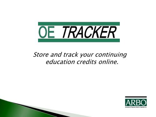 See How Oe Tracker Works Arbo