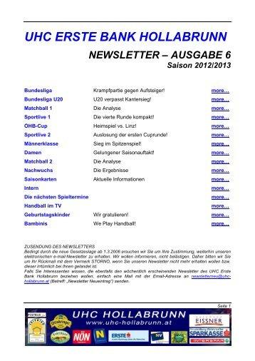 Newsletter 06 - UHC-Hollabrunn