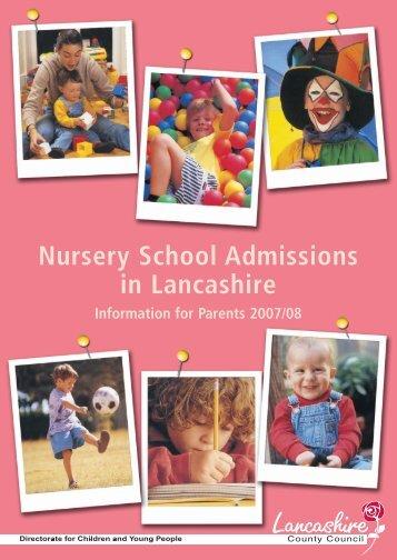 Nursery in - Lancashire County Council