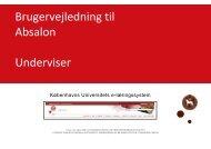 Brugervejledning til Absalon Underviser - itslearning