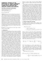 Numerical studies of the detection of targets embedded in clutter by ...