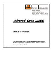 Manual instructions - Infrared-Oven IR600