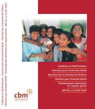Guidelines on Child Protection Directrices para la Protección ... - CBM