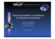 Distributed Satellite Constellations