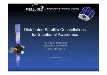 Distributed Satellite Constellations