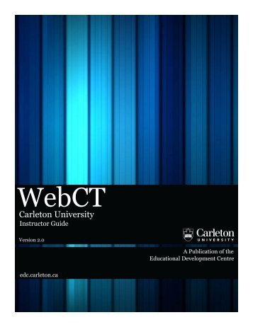 WebCT - Carleton University