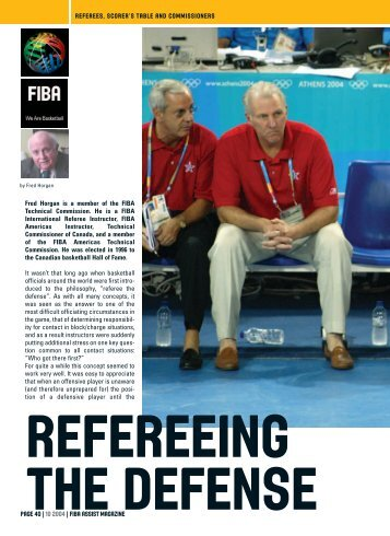 PAGE 40 | 10 2004 | FIBA ASSIST MAGAZINE REFEREES ...
