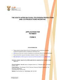 Application for payment - Form D - Department of Trade and Industry