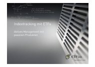 Indextracking mit ETFs