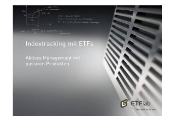Indextracking mit ETFs