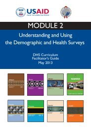 MODULE 2 - Measure DHS