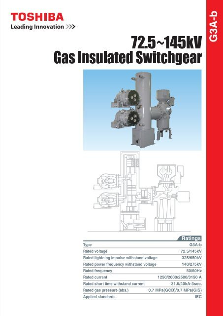 72 5~145kV Gas Insulated Switchgear (PDF:4351kb) - Toshiba