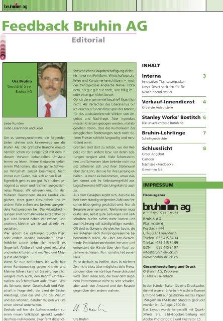 Ihr Partner für elektronische und gedruckte - Bruhin AG