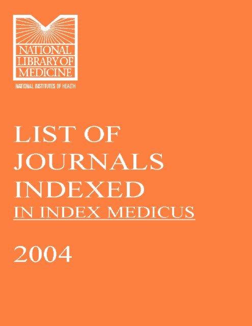 Journal List (Index Medicus) - Khon Kaen University Medical