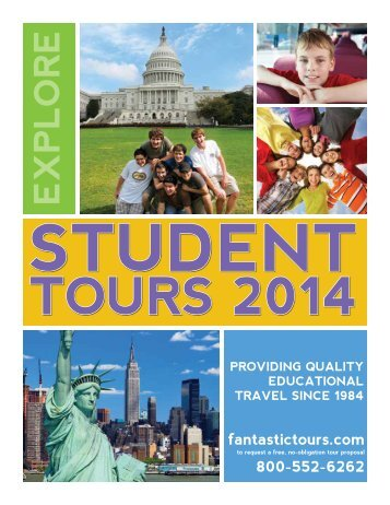 Download our New 2013-2014 Brochure - Fantastic Tours