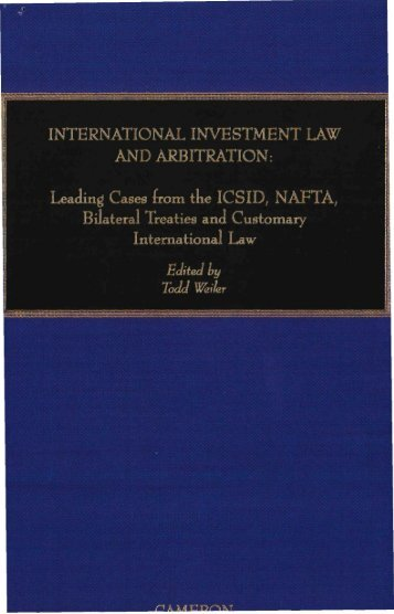 international investment law  and arbitration - International Council ...