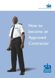 How to Become an Approved Contractor - Security Industry Authority
