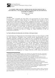 the african charter on democracy, elections and governance - AfriMAP