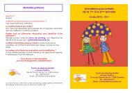 Animations pour enfants de la 1ère à la 6ème primaire - Visualis