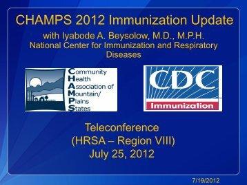 Slides - Community Health Association of Mountain/Plains States