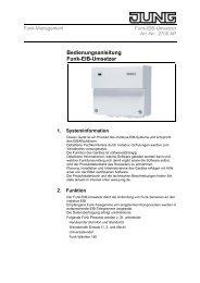 Bedienungsanleitung zu Jung 2700AP KNX ... - Avolta.de