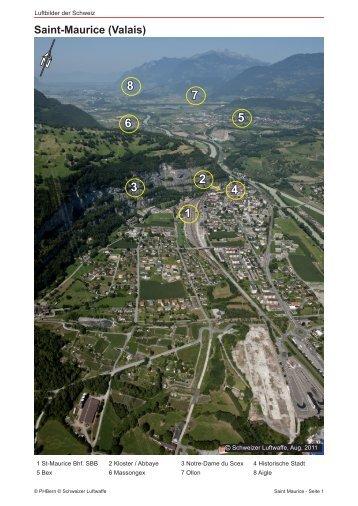 Saint-Maurice (Valais) - Luftbilder der Schweiz