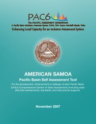 American Samoa Self Assessment and Jurisdiction Plan - PAC6
